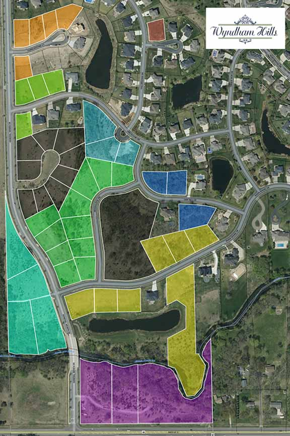 Wyndham Hills Development Plat Map